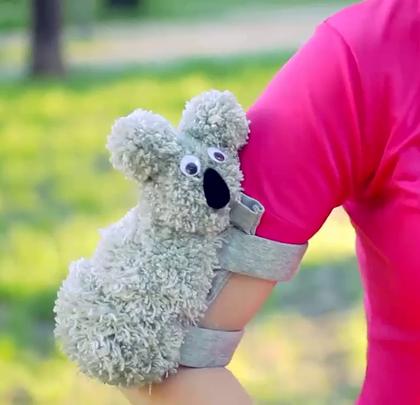 做个考拉跑步手机臂包,好可爱啊,赶快学起来#手工##生活DIY教程#