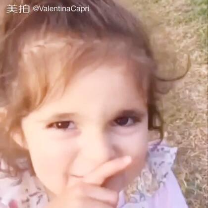 "She :"" mommy , can I wear secret blush?""🙊#宝宝##瓦伦蒂娜卡朴蕊#"