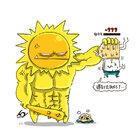 最近的太陽會不會太猛了一點,我都在冒油了(? #太陽##溫度##BOSS##人2##People2##徵女友#