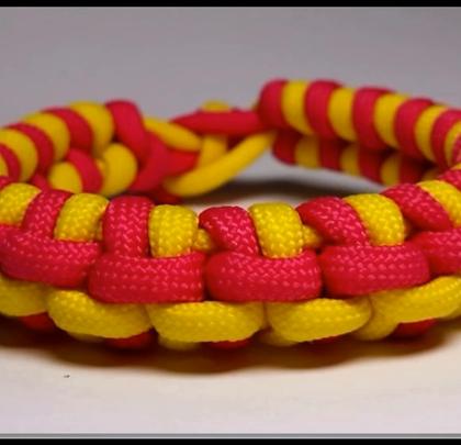 教你编双缝回转手链,很个性好好看哦#时尚##手工##生活DIY教程#