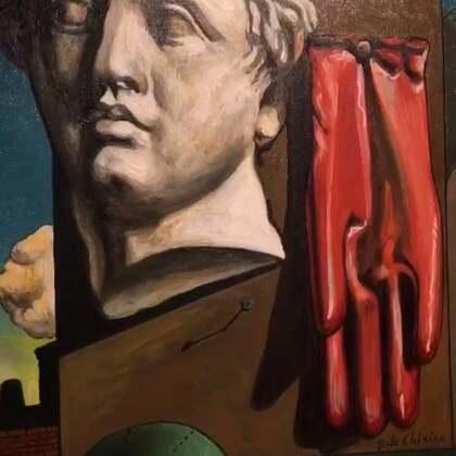 周末看展中~乔治·德·莫里科的画展,看真迹的感觉真是爽呆了拉啦😌😌#油画展#