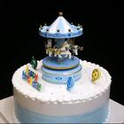 #美食##蛋糕#蓝色旋转木马蛋糕来啦!转一转~清新一夏~