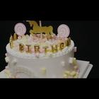 #美食##蛋糕#第一次做的儿童木马蛋糕^^蛋糕粉粉的,棉花糖软绵绵的,心都化了~【把上次的歌继续放完~BGM: I miss you-Czarina】喜欢吗?