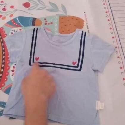 教大家一个实用的叠衣服教程