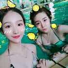 热死啦热死啦,想一直泡在水里不出来😛😛#自拍##夏日游泳#