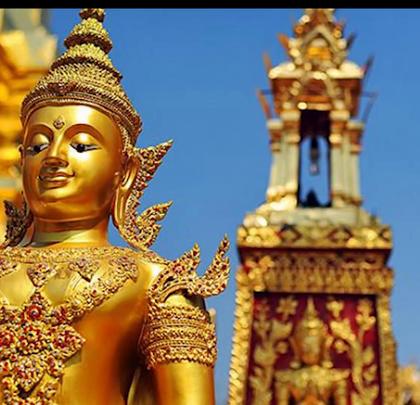 泰国最具土豪气息的寺庙,进贡佛主的珠宝全藏在这个金塔里!@阿葩罩爷 @Adacrew陈鹭宏 #hi走啦##带着美拍去旅行##男神#