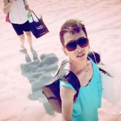夏天和沙滩更配哟😁@HelloDance牛奶 #男神##旅行##我要上热门#@美拍小助手