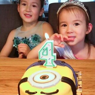 姐姐给妹妹唱生日快乐歌!❤️❤️😘😘