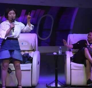 洋子即兴挑战MC欧阳靖,这应该是史上最搞笑的battle了吧#辣目洋子##搞笑##我要上热门#