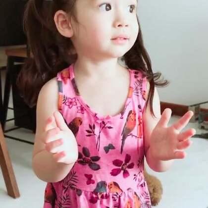 给我示范在幼儿园新学的歌,听出来唱得是什么吗😄#宝宝#