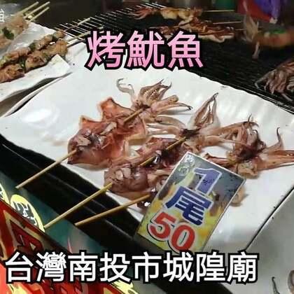 #美食##跟著強哥逛台灣#南投市城隍廟口 烤魷魚 雞翅包飯