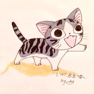 #喵了个咪##马克笔画##日本漫画#