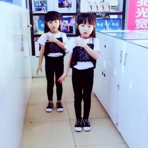 【简简单单双胞胎美拍】#宝宝##舞蹈#