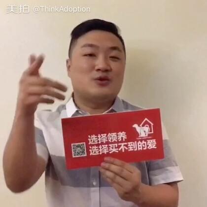 #美拍有嘻哈##中国有嘻哈# 孙八一力挺ThinkAdoption,为流浪动物发声音!#选择领养选择买不到的爱#@孙八一