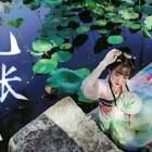 """【青瑶】琵琶《九张机》——《双世宠妃主题曲》🌾🌾🌾这是青瑶自己设计的汉服""""爱莲说"""",希望大家喜欢!#双世宠妃##音乐##九张机#"""