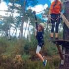 带他们尝试一次丛林穿越,孩子们都非常勇敢!为他们骄傲❤️