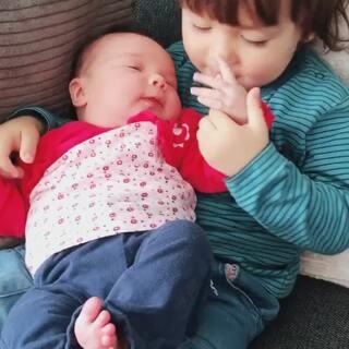 #宝宝##二胎时代##荷兰混血小小志&柒#每天都要在我面前秀恩爱的小志哥哥... ...