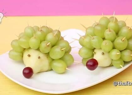 5个趣味水果DIY,吃的时候注意牙签之类的哦#手工##DIY##生活DIY教程#