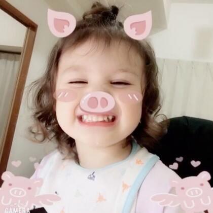#小团子#变身为萌小猪#宝宝##混血萝莉#