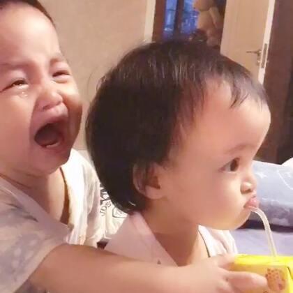 #龙凤胎兄妹俩# 一盒维他蜂蜜茶引发的血案😰😰😰😰😰 由于麻麻老是喝这玩意儿,宝宝看到必抢😰😰😰😰😰其实基本是个空盒 #搞笑宝宝##双胞胎的日常#