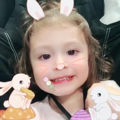 家有一只小白兔🐰#宝宝##自拍##混血萝莉#
