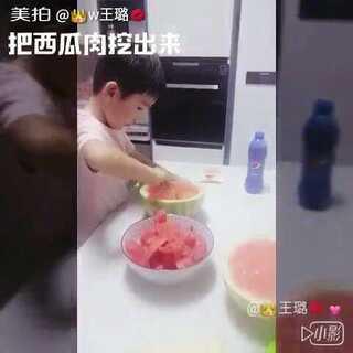 学做西瓜果冻#美拍精彩话题预告##吃秀##宝宝#