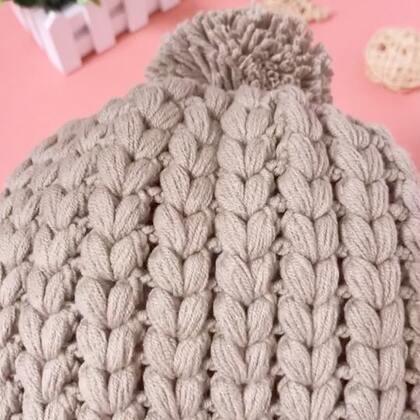 枣型针帽子教程-1#手工#视频中忘记说了哈😊还要准备一把小剪刀😄钩完断线用😊这款帽子钩法很简单的哦😊视频中有详细讲如何算起针数哦😊#老年帽##冬季帽#