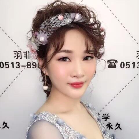 时尚美妆 发型 新娘造型 浪漫唯美风格造型,充满女人味 南通羽非美学图片