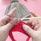 枣型针帽子教程-7#手工#帽身的第一圈就一直按照规律钩就可以了哈😊