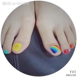 超级喜欢的指甲😄#全民吐彩虹#