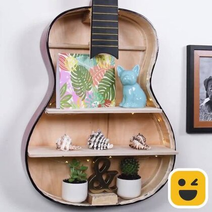 原来旧吉他,坏掉的锅还能这么转废为宝?这7个DIY花式架子的方法可以支撑起忙活一天累坏了的你!#手工##机智日记##我要上热门#