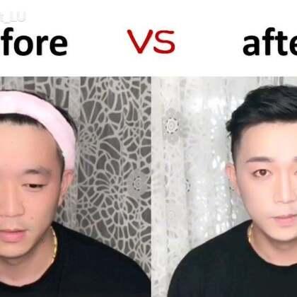 #全民素人大改造##美妆时尚#这是一条非常仓促的视频😂😂😂全程遭受白眼【第一次化男妆,非专业亲们不喜勿喷】