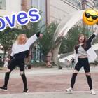 抽课间时间录的❤️#moves#录了几遍就过了😳#舞蹈#路人们都还蛮配合的 ❤️#美拍运动季#多转发点赞 爱你们❤️