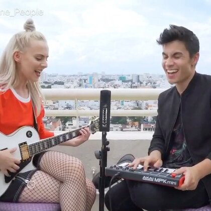 Taylor Swift - Look What You Made Me Do (Madilyn Bailey & Sam Tsui) #音乐#