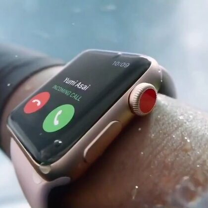 Apple Watch 3 Series,各方面性能提升,当然最大的改变就是支持独立网络支持,不用靠iPhone就可以连网听歌收微信#2017苹果新品发布会#