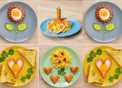漂亮又营养的4个早餐,太好看了,好有食欲#手工##美食##生活DIY教程#