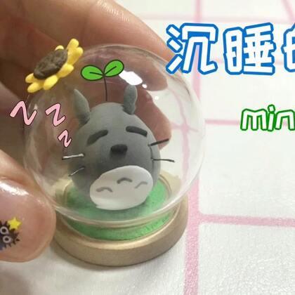 超级可爱的mini沉睡小龙猫😆❤️你们喜欢吗~~~😘#手工##萌物龙猫手作##我和我的奶油皇后#