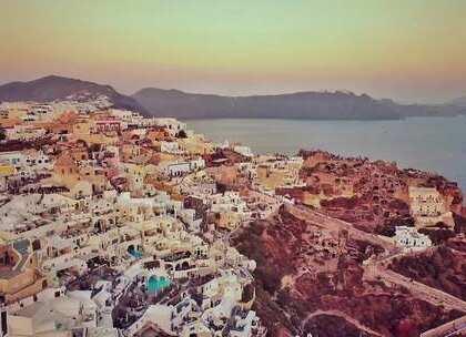 全世界人民的落日盛宴!烽火台等候3小时,和心爱的人在爱琴海见证最浪漫的落日!#hi走啦##甜品##我要上热门#