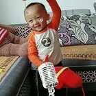 @美拍小助手 @旺仔俱乐部 @宝宝频道官方账号 1岁5月11天 豆子一听,还激动的跳起来啦!好可爱?自己看了无数遍?