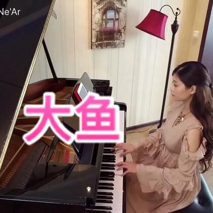 """#音乐#《大鱼》😊改编成了适合初学者的C调,左手伴奏有规律。😁有简谱,也有五线谱。😛可以用美拍的""""边买边看""""选购。#钢琴##大鱼海棠#"""