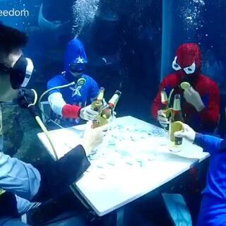 2017水下雀神争霸赛之血战到底,决赛名单:1号选手#美国队长#、2号选手#蜘蛛侠#、3号选手#超人#、4号选手#蝙蝠侠#,比赛正在火热进行中……大家可以给自己喜欢的选手投票😜