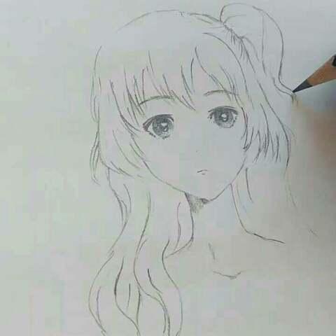 绘画 画画教程 铅笔画 画头发啦 大胆画下去就对了 小青Tiffany的美拍