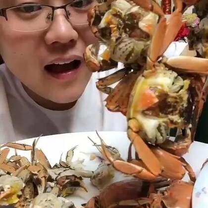 #吃秀##我要上热门##我要上热门@美拍小助手#螃蟹就算不拍视频,每天我也会吃几个的,就吃他个香!150元30只https://item.taobao.com/item.htm?id=558663743280