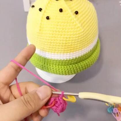 糖果奶嘴帽教程-4#手工#奶嘴部分的钩法就是一直重复第二圈的钩法就可以了😊