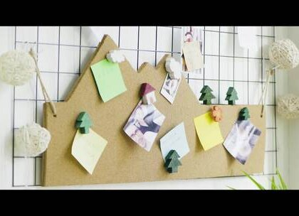 DIY软木留言板,用它来记录生活的点滴幸福!