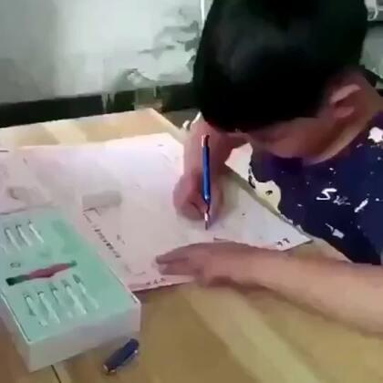 林文正姿护眼笔坐姿不正确笔头缩回写不出来,坐姿正确正常书写-