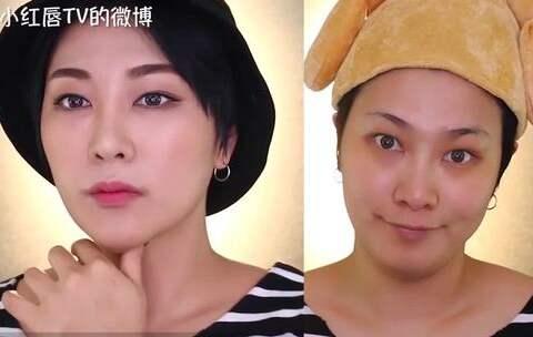 【小红唇官方美拍】视觉上减10斤的神奇化妆术,不用...