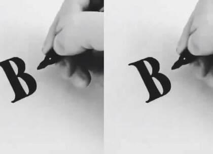 教你写衬线体英文字母,26个字母都有哦,以后给家人朋友送礼物写贺卡的时候可以用到,赶快学习一下吧#手工##涨姿势##生活小技能#