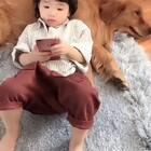 坦克脾气好的没话说#宠物##宝宝#@美拍小助手