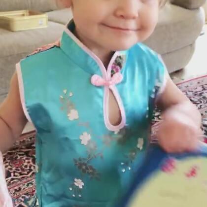 中秋快乐😁#伊诺1岁9个月#